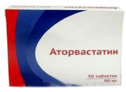 Аторвастатин, табл. п/о пленочной 80 мг №30